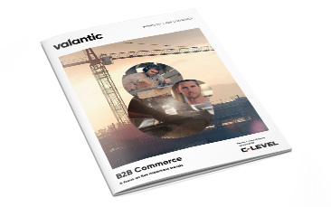 """Picture from a magazine, valantic viewpoint """"B2B Commerce - a focus on five important trends"""""""