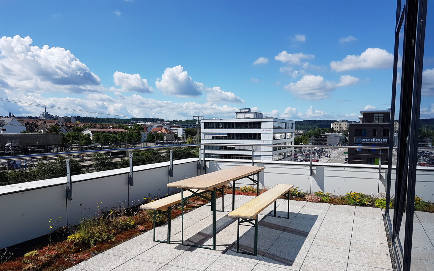 valantic Supply Chain Excellence office in Böblingen, image of the roof terrace