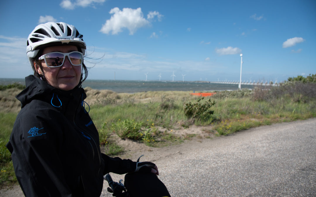 Picture of Birgitt Schmidt-Tophoff, Director Recruitment at valantic, on her bike