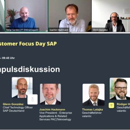 Image from the panel discussion at the valantic Customer Focus Day SAP