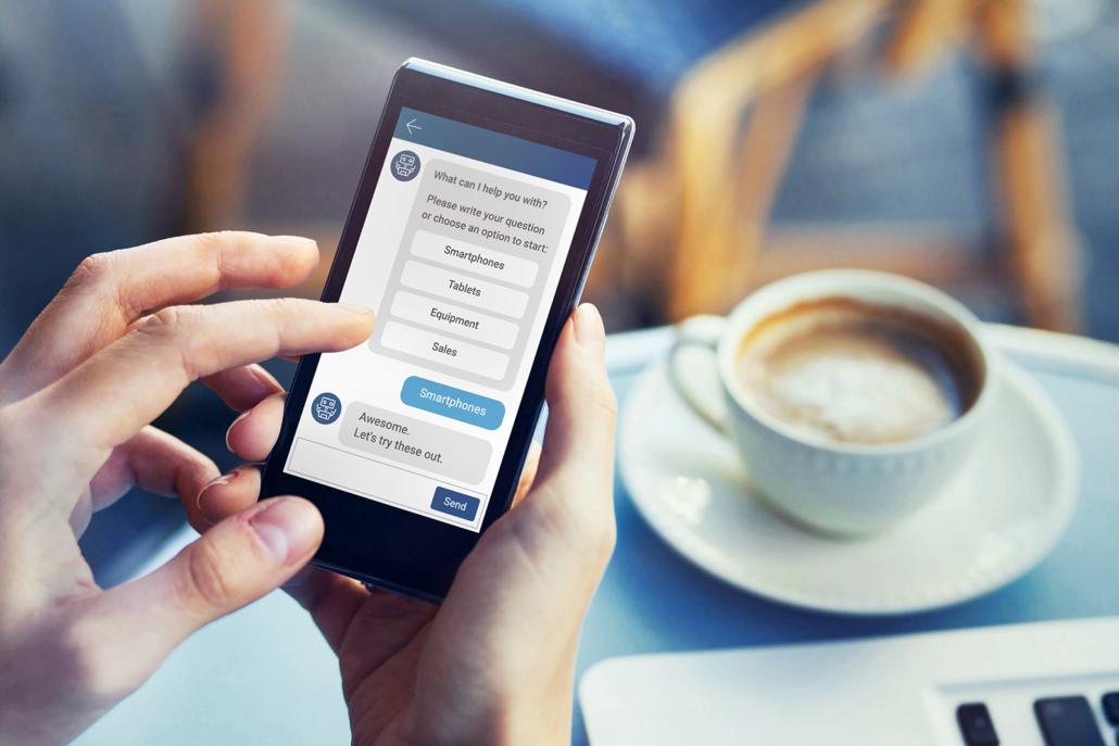 chatbot beantwortet fragen online, roboter assistent
