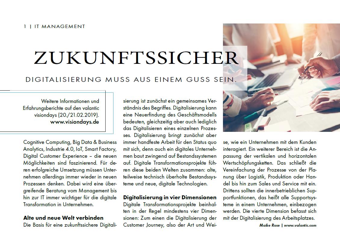 """Screenshot des Beitrages """"Digitalisierung muss aus einem Guss sein"""" aus it-daily.net"""