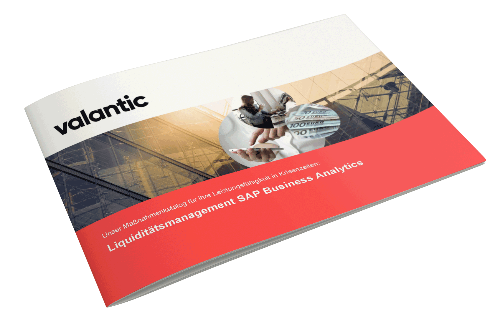 Bild einer Zeitschrift, valantic Maßnahmenpaket zum Liquiditätsmanagement in Krisenzeiten