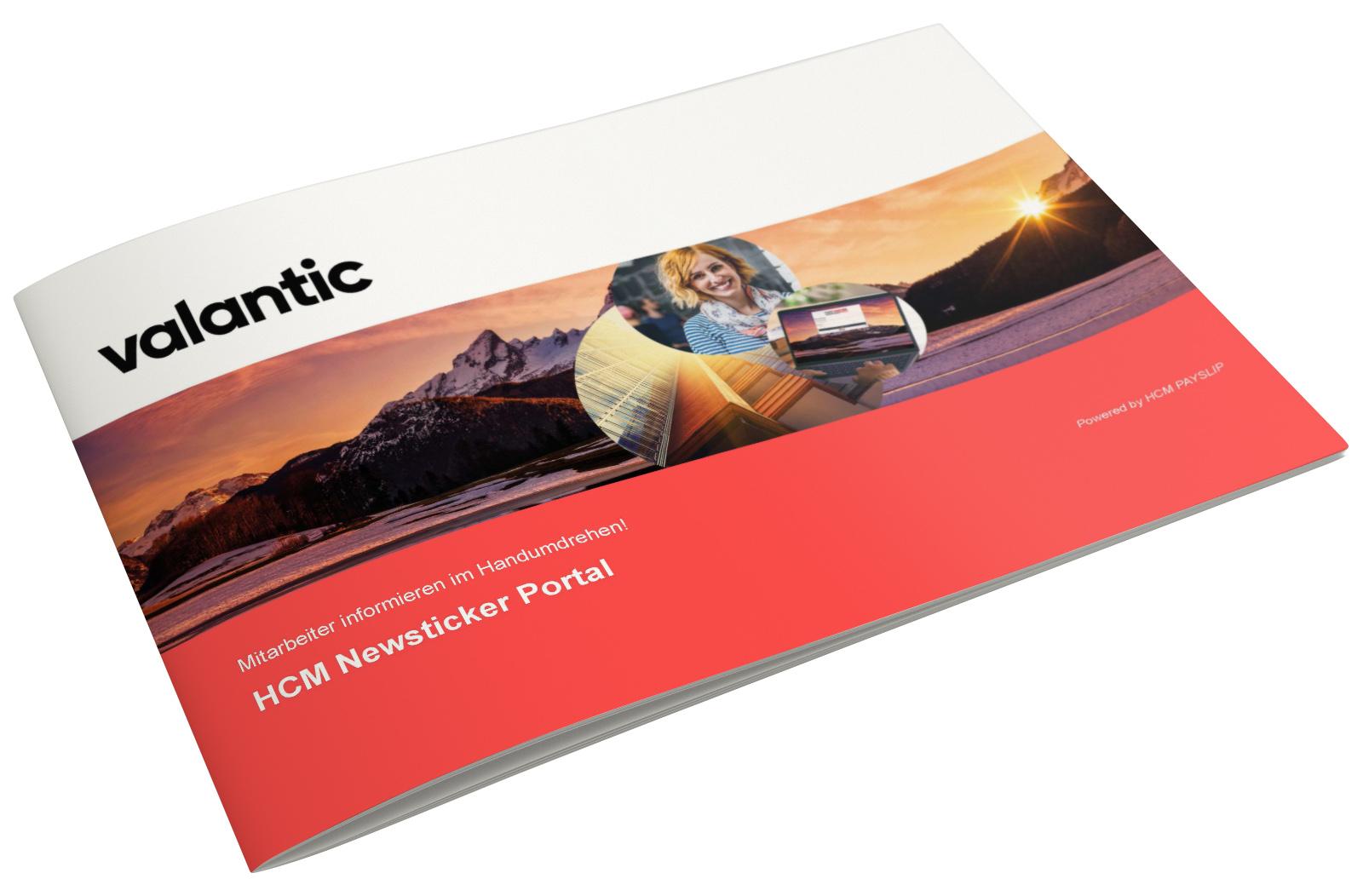 Bild einer Zeitschrift, valantic Maßnahmenpaket zum HCM Newsticker-Portal für die Interne Kommunikation