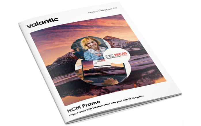 Picture of the valantic brochure about HCM Frame