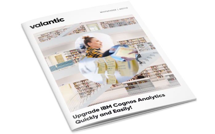 """You see the view of the wihitepaper """"Upgrade IBM Cognos Analytics quickly and easily!"""""""