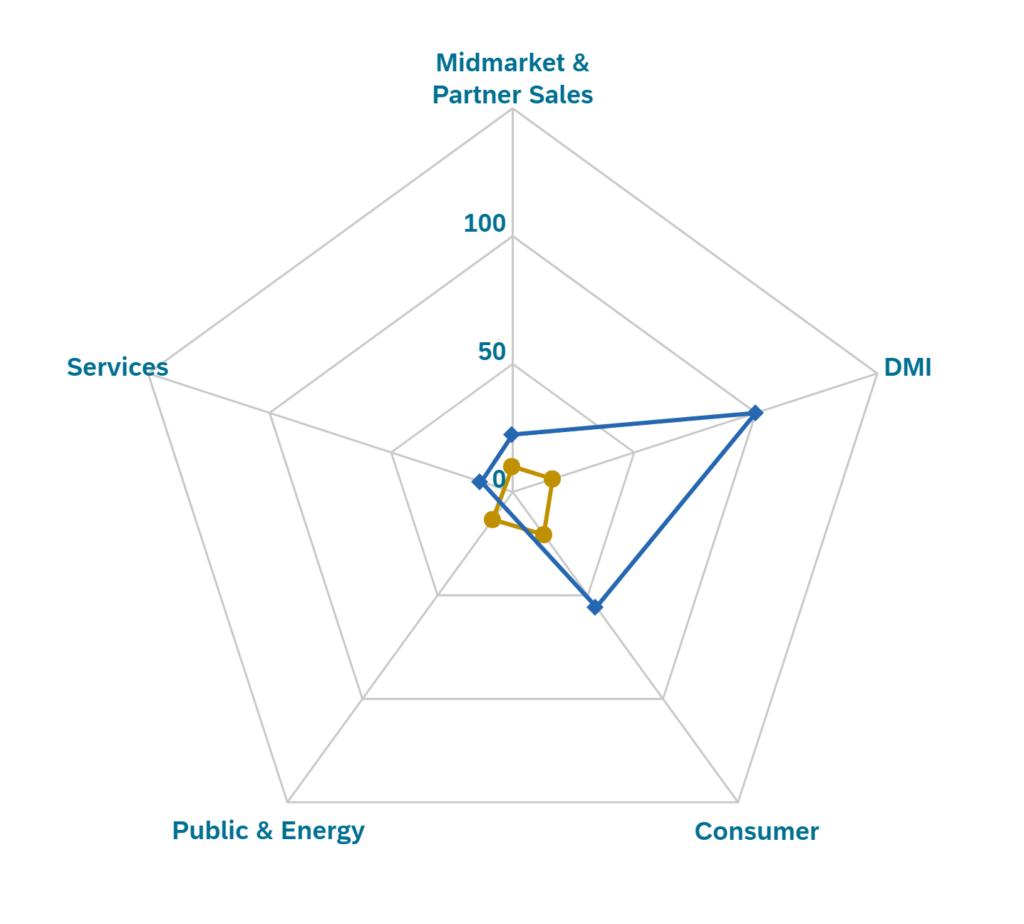 SAP diamant initiative five sectors results for valantic
