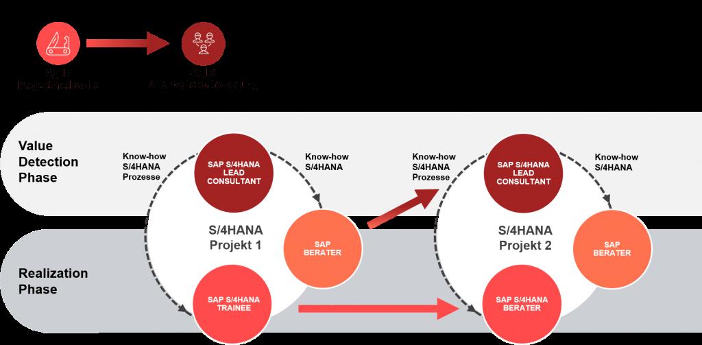 Grafik agiler Direkteinstieg in SAP S/4HANA im valantic Design