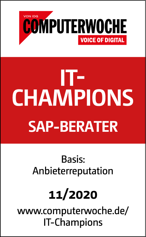 Computerwoche Siegel: IT-Champions - SAP Berater