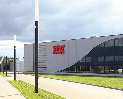Bild des Gebäudes von SEW Eurodrive, valantic Supply Chain Excellence Day bei SEW Eurodrive