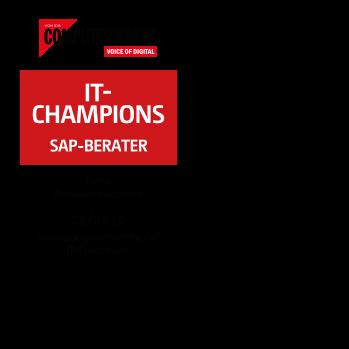 Computerwoche Seal: IT-Champions - SAP Berater