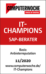Computerwoche Siegel: IT-Champions - SAP Berater