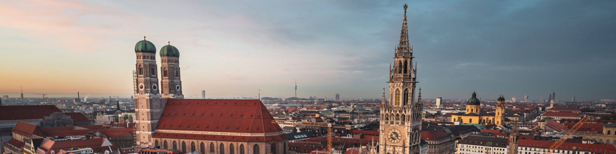 City view of Munich, branch valantic Supply Chain Excellence, valantic GmbH and valantic TS