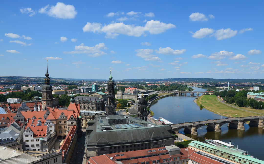 City view of Dresden, branch of valantic ERP Consulting