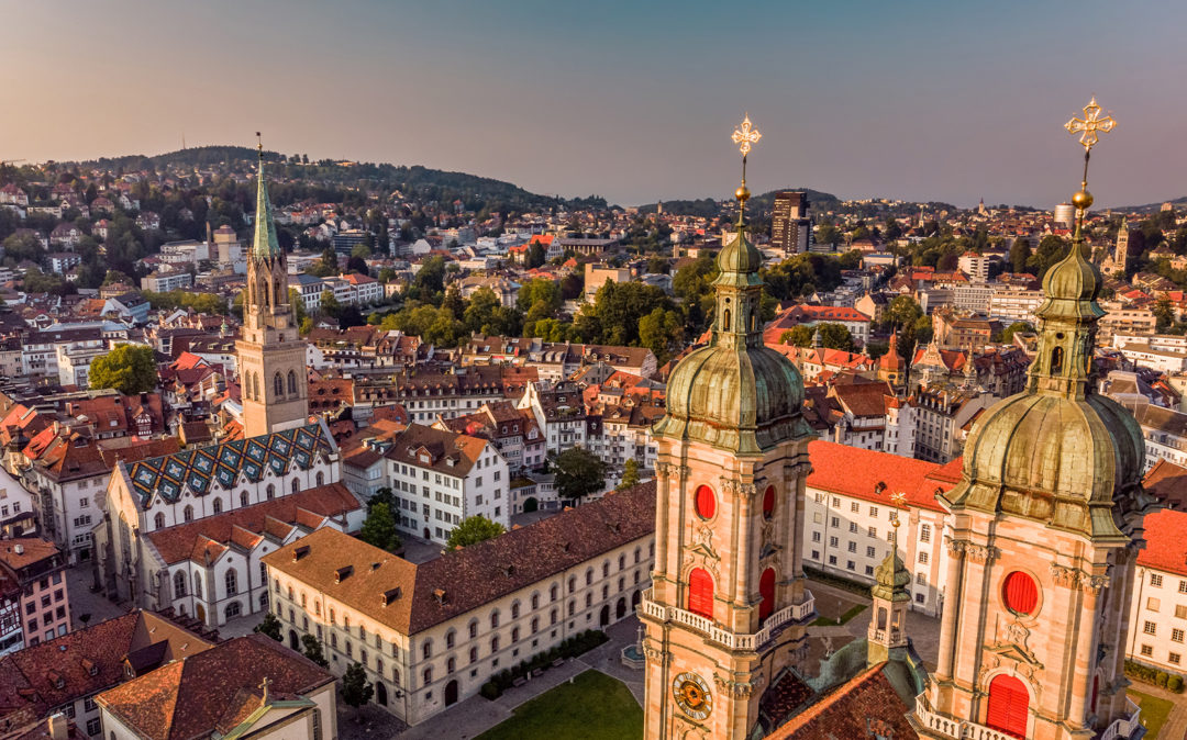 City view of St. Gallen, branch valantic Customer Engagement & Commerce (CEC)