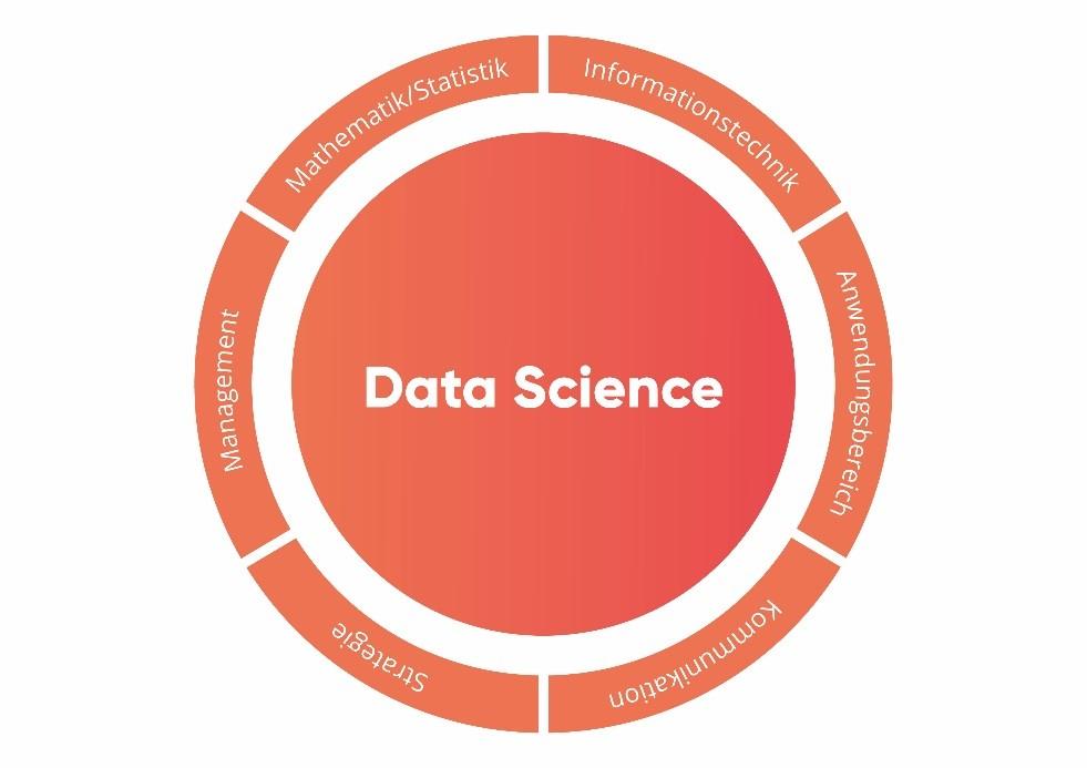 Grafik Nötige Kompetenzen in einem Data-Science-Projekt