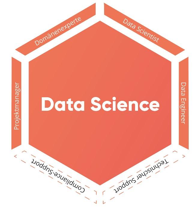 Grafik Rollen in einem Data-Science-Projekt