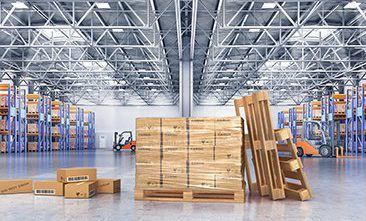 Picture of a warehouse, valantic warehouse and material flow planning