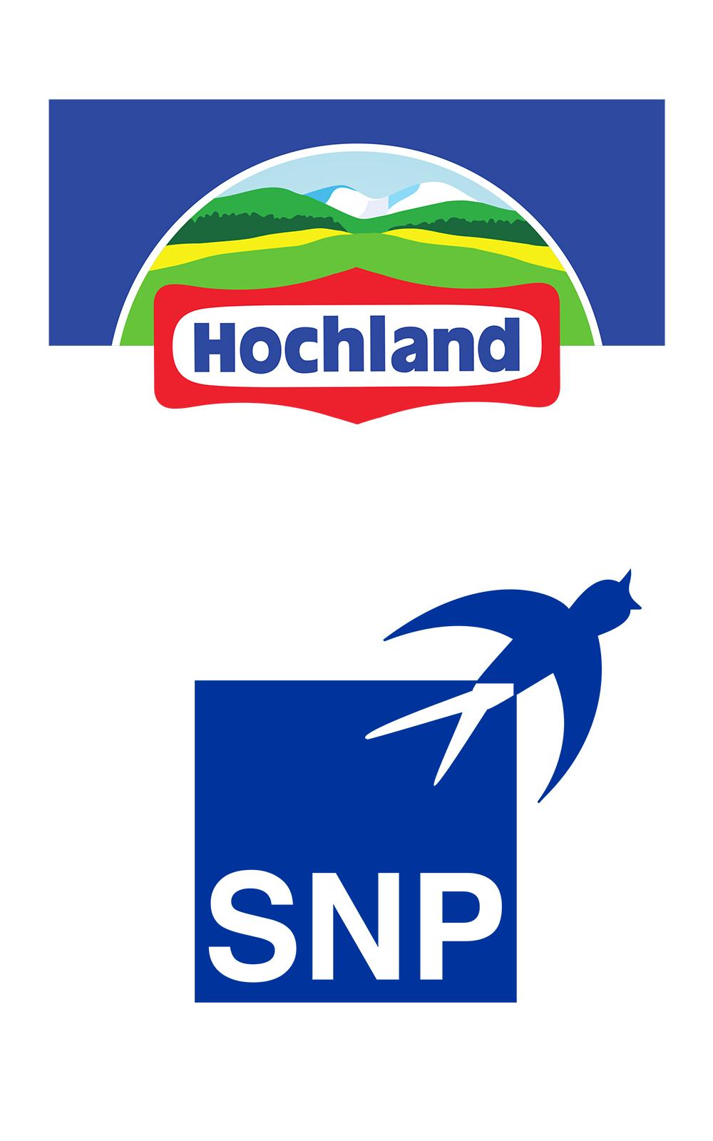 Die Logos von Hochland und SNP zum Deep Dive auf den valantic Customer Focus Days SAP 2021