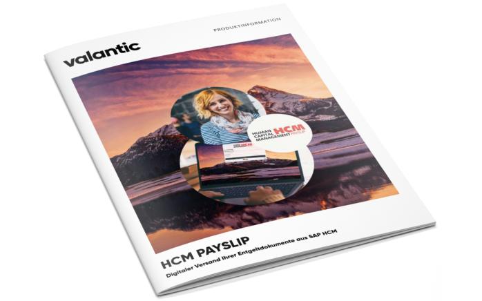 Bild der valantic Broschüre zum Thema HCM Payslip