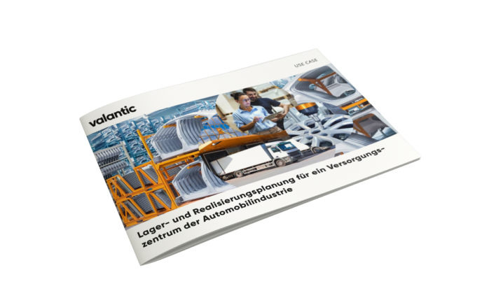 Mockup Use Case Lager- und Realisierungsplanung, valantic Logistikmanagement