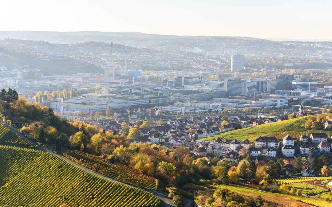 City view of Stuttgart, location of netz98 - a valantic company in Leinfelden-Echterdingen