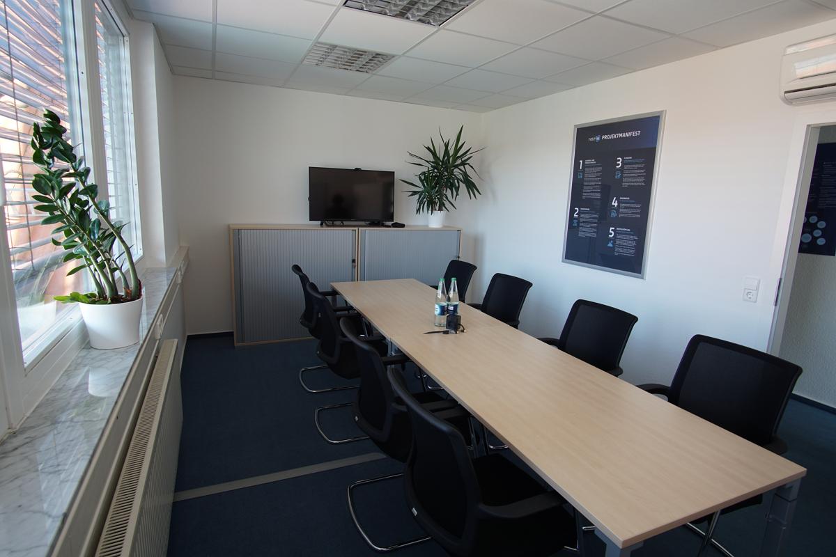 Bild eines Meetingraumes von netz98 - a valantic company in Stuttgart, Leinfelden-Echterdingen