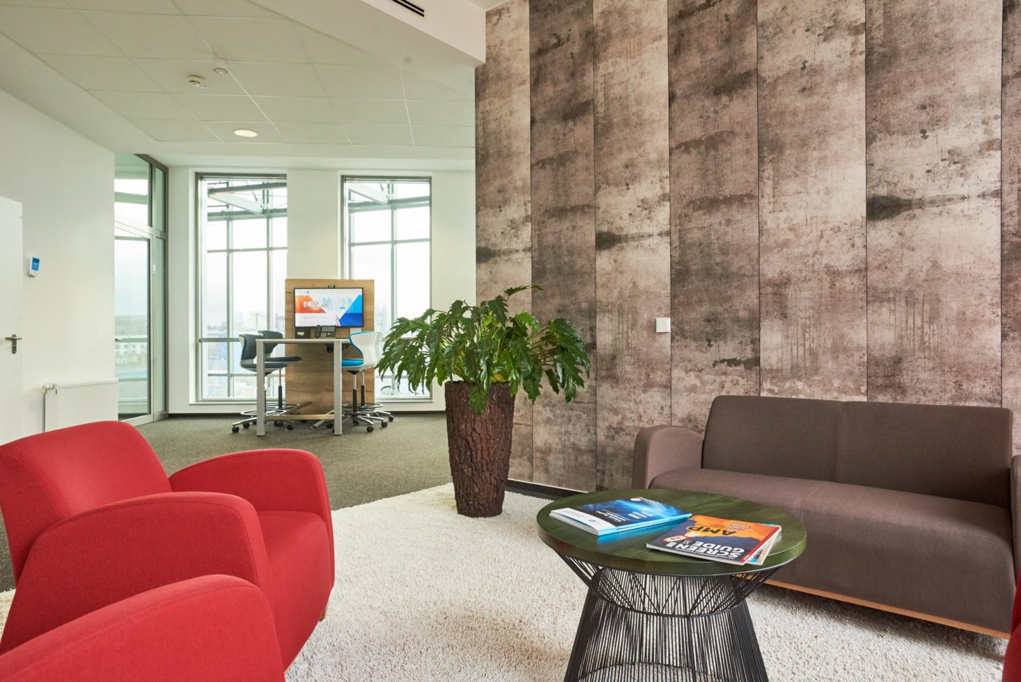 Lounge at the netz98 office in Mainz, valantic branch