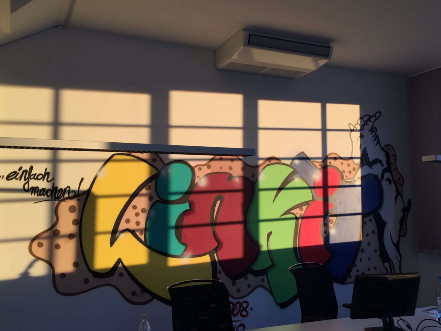 Image of a graffiti in the office of valantic ERP Consulting in Cologne