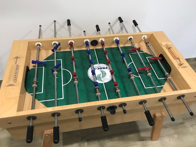 Image of a foosball table in the office of valantic people in Fürth