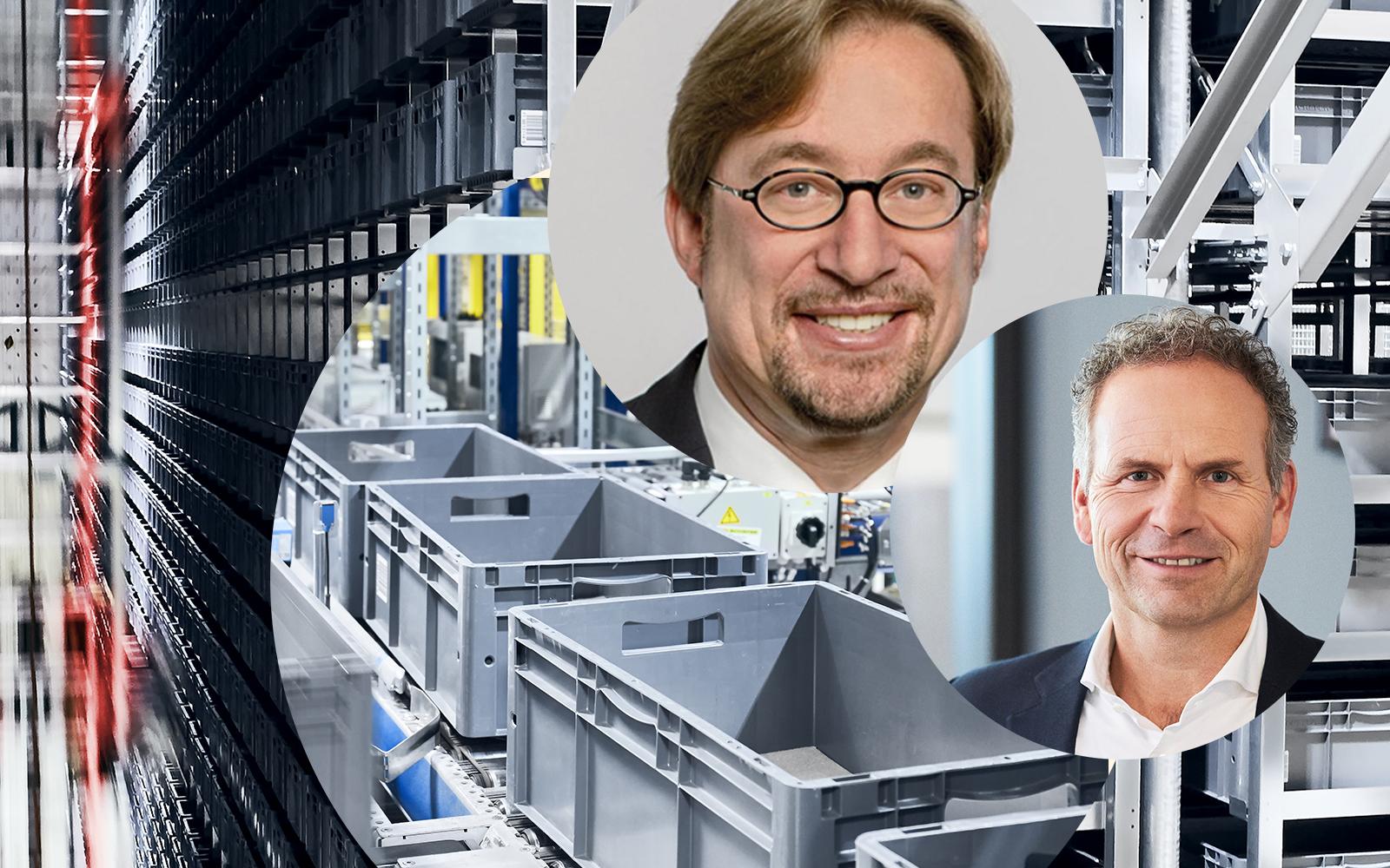 Bild von Prof. Dr.-Ing. Johannes Fottner (TU München) und Martin Hofer (valantic), Trends in Logistik