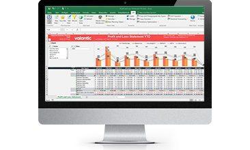 Bild eines Bildschirms mit Grafiken und Diagrammen, valantic SAP Integrated Business Planning IBP