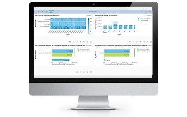 Bild eines Bildschirms mit einem Screenshots der SAP Integrated Business Planning (IBP) Software