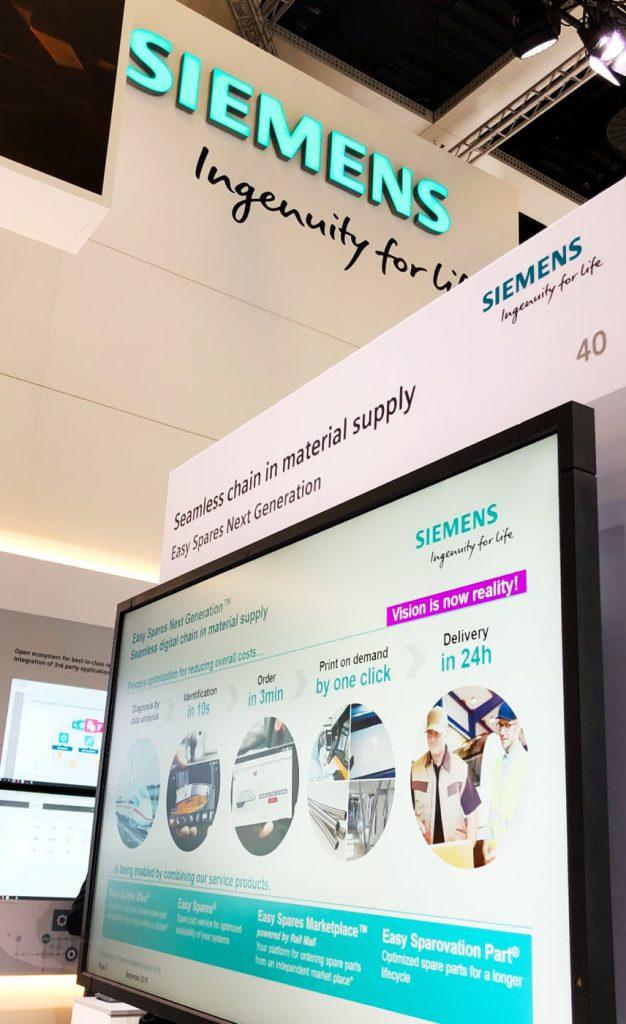 Bild eines Bildschirms mit Informationen über den Siemens-Marktplatz, valantic Case Study