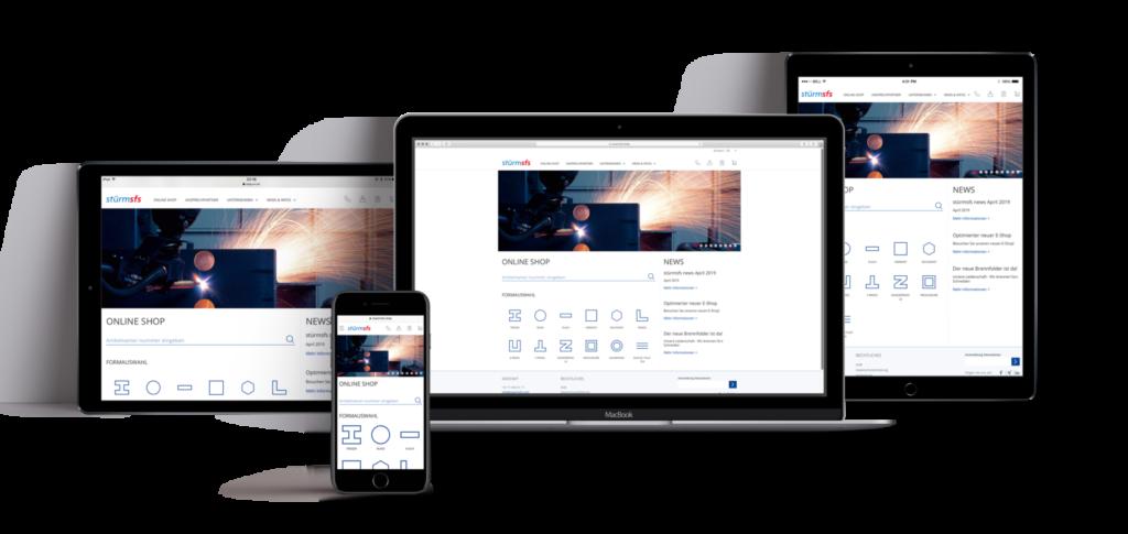 Die neue E-Business Plattform von stürmfsf auf verschiedenen Devices, valantic valantic relauncht stürmsfs-Plattform