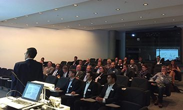 Picture of a presentation in a room with many people, valantic Supply Chain Excellence Day at ERCO