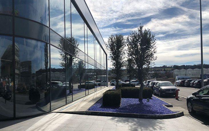 Bild vom Außenbereich des General Dynamics Gebäude, valantic Supply Chain Excellence Day bei General Dynamics