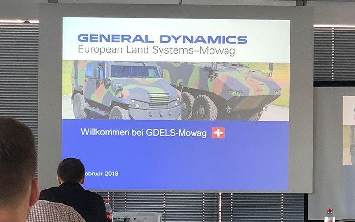 Bild von einer Präsentation von General Dynamics, valantic Supply Chain Excellence Day bei General Dynamics