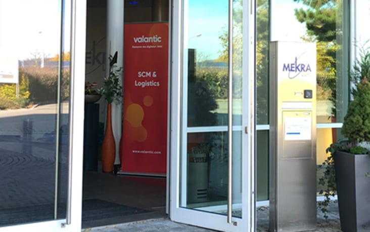 Front door of a building, valantic Supply Chain Excellence Day at MEKRA