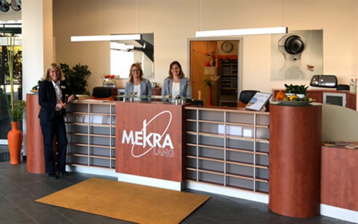 Picture of MEKRA's entrance area, valantic Supply Chain Excellence Day at MEKRA