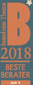logo brand eins wissen - beste berater 2018 - auszeichnung valantic