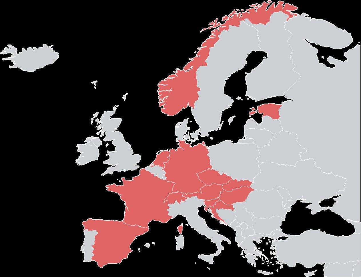 valantic Bike Company Europe Map
