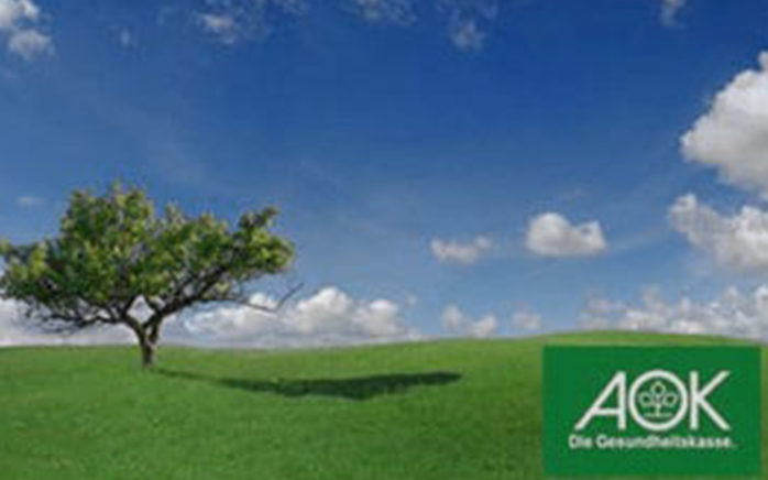 Picture of a tree on a field and blue sky in the background, valantic Case Study AOK Niedersachsen