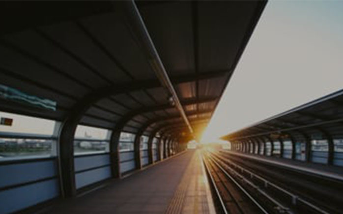 Picture of a train station, valantic Case Study Siemens AG