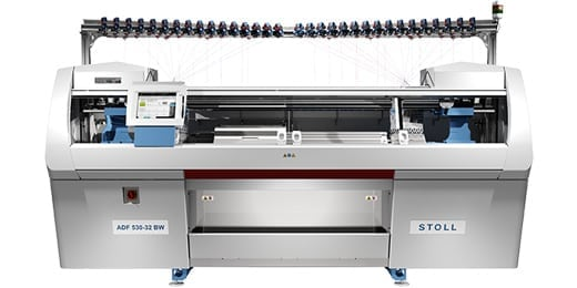 frontphoto of a knitting machine , valantic Case Study Stoll Knitting Machines