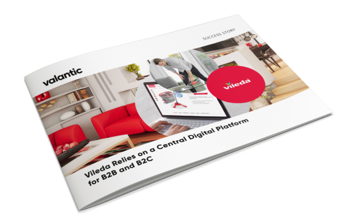 Image of the brochure for the Vileda case study: B2B & B2C platform with SAP Commerce Cloud