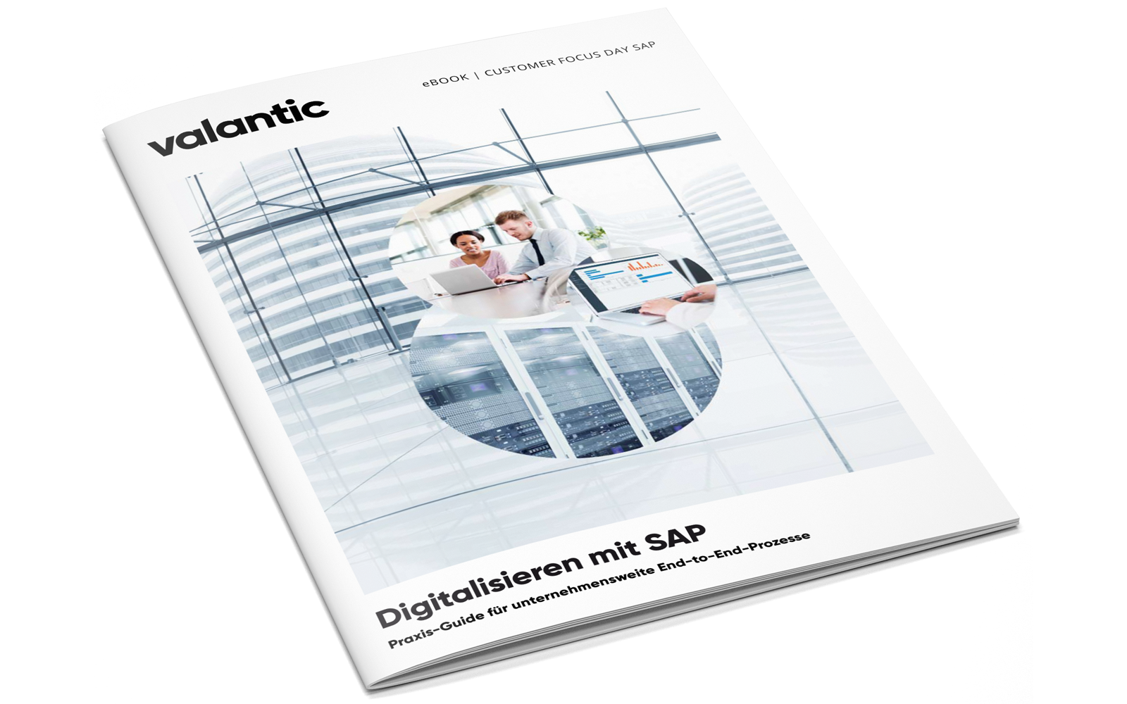 Das Bild zeigt das Titelblatt des valantic E-Books zum Customer Focus Day SAP