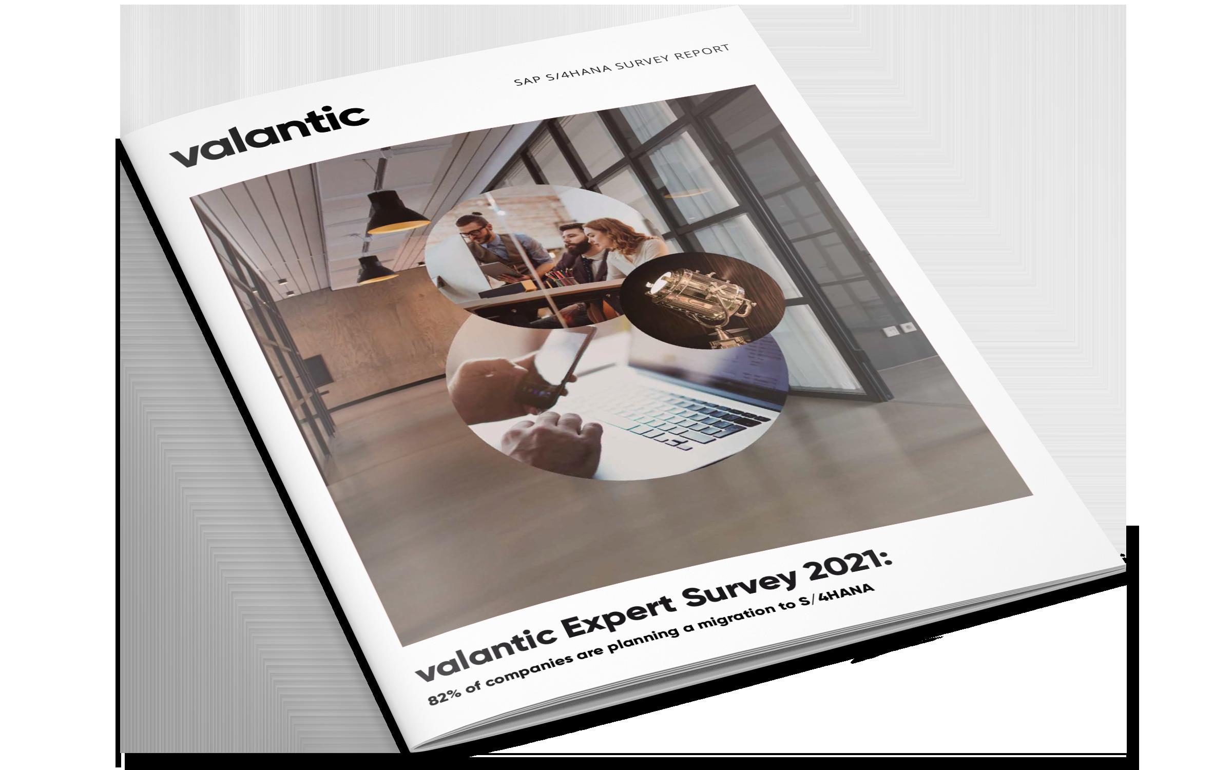 Cover of the Study Report on valantics SAP S/4HANA Expert Survey