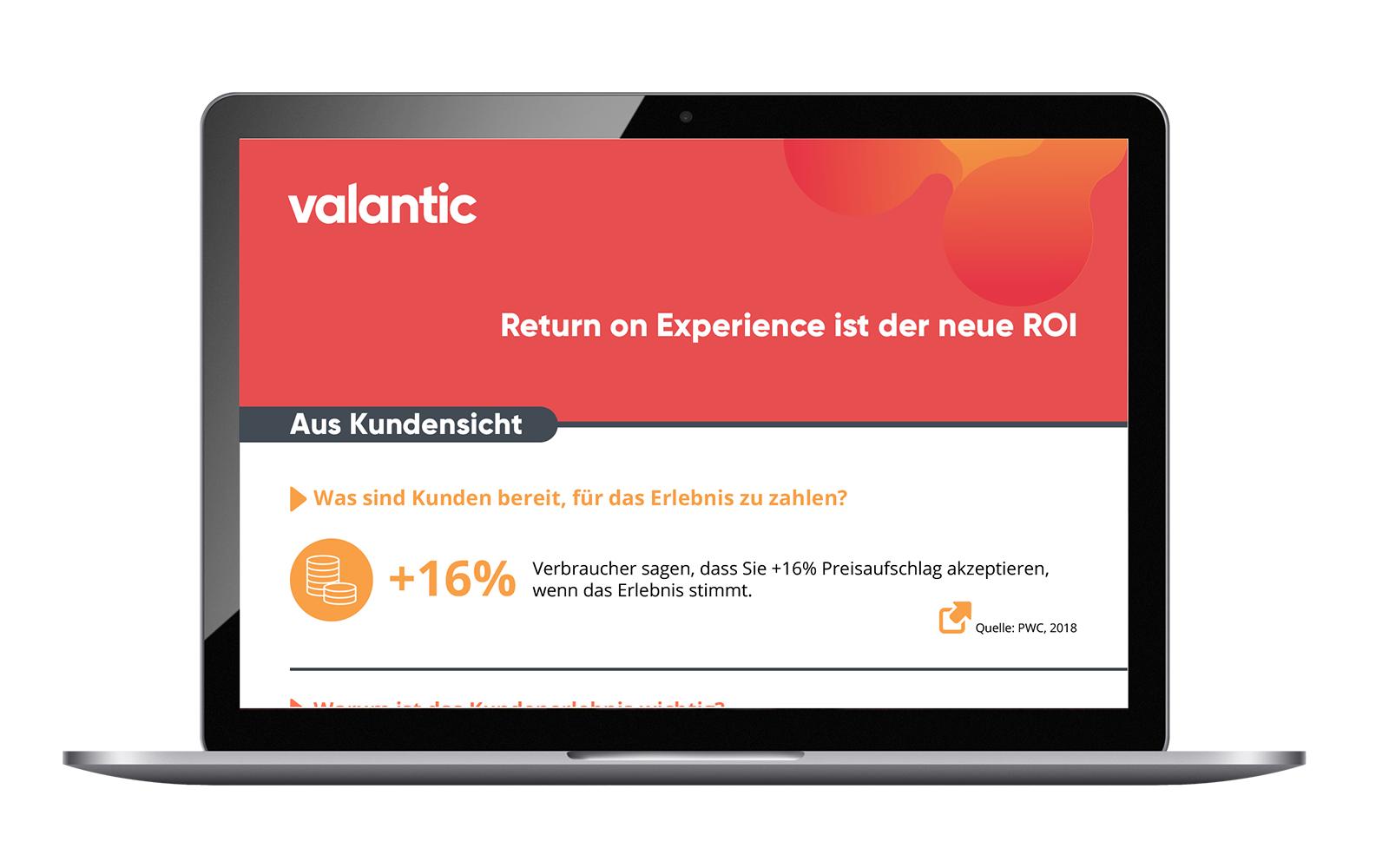 Infografik von valantic: Return on Experience ist der neue ROI
