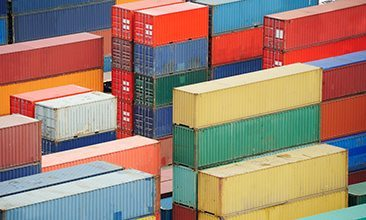 Picture of colorful containers, valantic supplier management